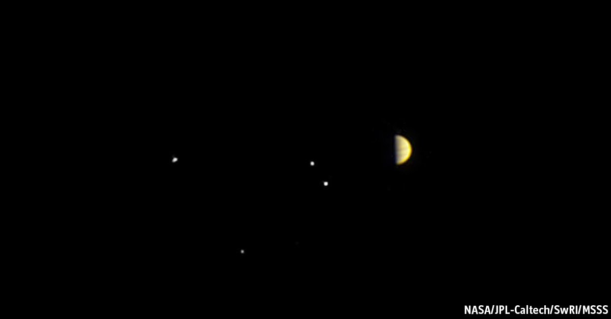 Recent photograph sent by the Juno mission